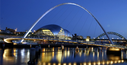 Millenium Bridge in Newcastle-upon-Tyne